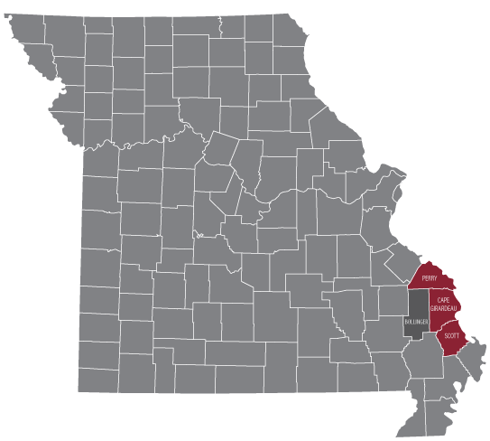 Missouri Counties: Perry, Cape Girardeau, Bollinger and Scott